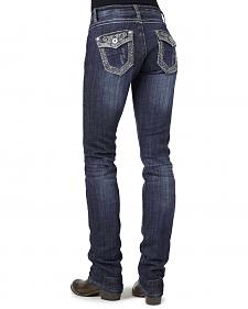Stetson 541 Stovepipe Rhinestone Flap Pocket Jeans