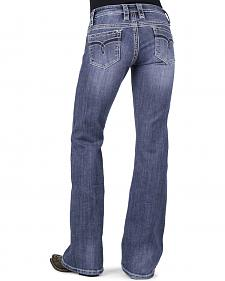 Stetson Women's 816 Classic Fit Distressed Bootcut Jeans