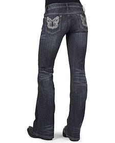 Stetson Women's 816 Metallic Stitch Bootcut Jeans