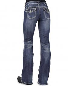 Stetson Women's 816 Classic Fit Embellished Rear Flap Bootcut Jeans