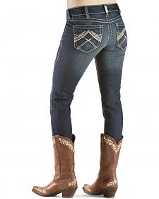 Ariat Women's R.E.A.L. Skinny Whipstitch Ocean Jeans