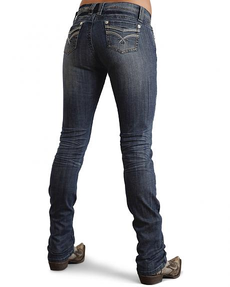 Stetson Women's Stovepipe 541 Fit Embroidered Skinny Jeans