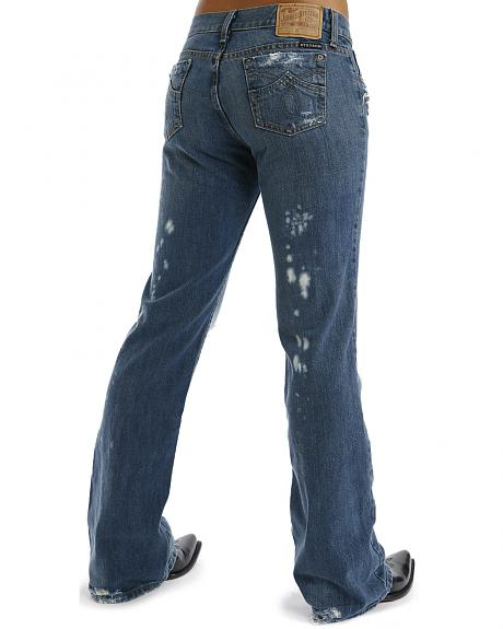 Stetson Women's 816 Fit Distresed Bootcut Jeans