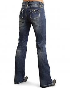 Stetson Women's 816 Fit Nailhead Belt Loops Bootcut Jeans
