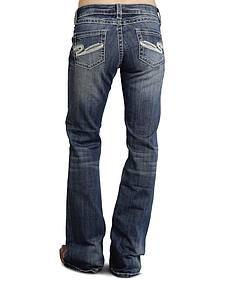 "Stetson Women's 816 Fit White ""S"" Stitch Bootcut Jeans"