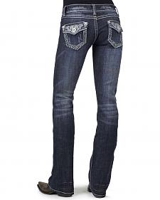 Stetson Women's 818 Fit Contemporary Contrast Stitch Bootcut Jeans