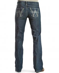 Wrangler Q-Baby Booty-Up Embroidered Jeans - Boot Cut