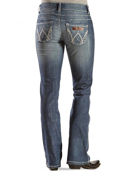 Wrangler Women's Premium Patch Mae Booty Up Bootcut Jeans