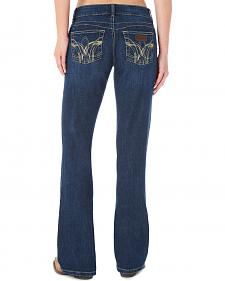 Wrangler Women's Booty Up Swirl Stitched Pockets Jeans