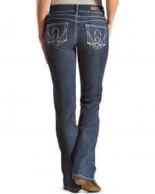 Wrangler Women's Premium Patch Booty Up Bootcut Jeans