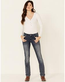 Wrangler Women's Premium Patch Mae Straight Leg Jeans