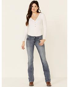 Wrangler Women's Premium Patch Mae Bootcut Jeans