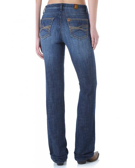 Wrangler Aura Women's Instantly Slimming Booty Up Bootcut Jeans