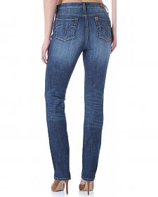 Wrangler Aura Women's Instantly Slimming Booty Up Straight Leg Jeans