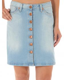 Wrangler Women's Button-Front Denim Skirt