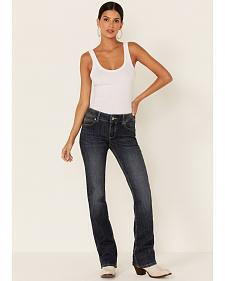 Wrangler Women's Dark Blue Premium Patch Bootcut Jeans