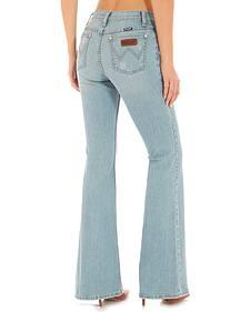 Wrangler Women's Indigo Flare Leg Jeans - High Waist