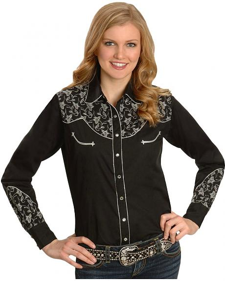 Cattlelac Ranch Taos Embroidered Retro Western Shirt