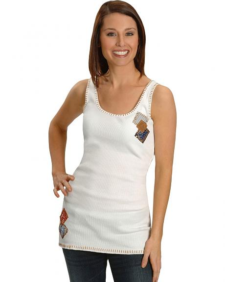 Cattlelac Ranch Patch White Tank Top