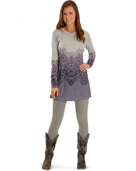 Roper Sublimation Print Sweater Dress
