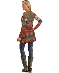 Roper Long Sleeve Western Design Tunic at Sheplers