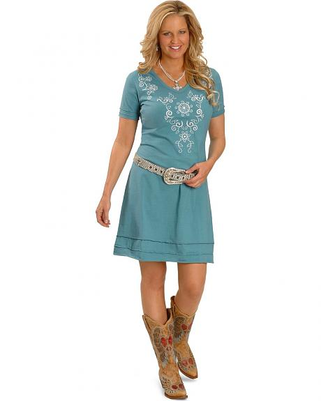 Rancho Estancia Rosa Embroidered Dress