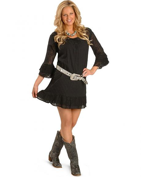 Rancho Estancia Sosie Lace Bell Sleeve Dress