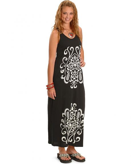 Panhandle Slim Embroidered Maxi Dress
