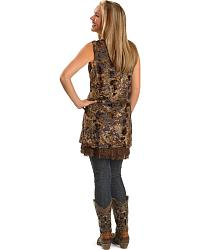 Rancho Estancia Crushed Velvet and Lace Tunic at Sheplers