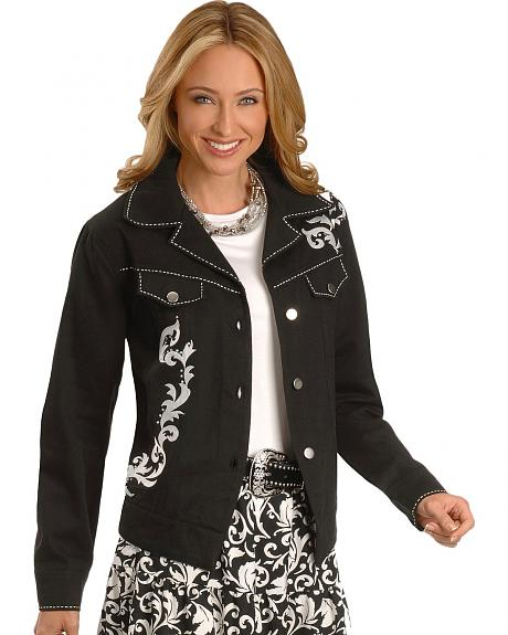 Red Ranch Rhinestone Embroidered Jacket