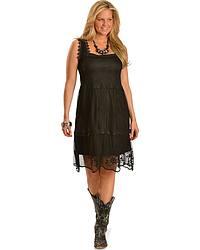 Rancho Estancia Boho Chic Black Dress at Sheplers