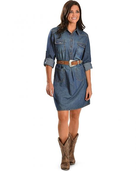 Red Ranch Denim Dress