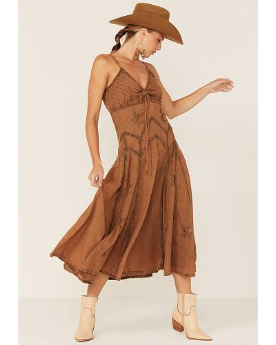 Scully Long Spaghetti Strap Dress Western & Country HC62 CP