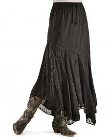 Scully Diagonal Embroidered Long Skirt