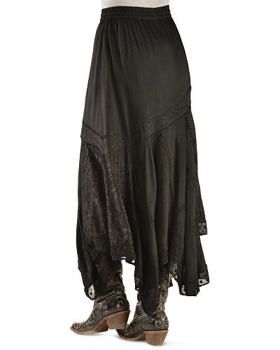 Scully Diagonal Embroidered Long Skirt $72.00 AT vintagedancer.com