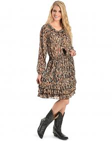 Scully Feather Print Dress