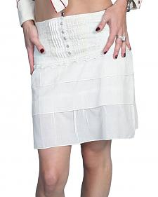 Scully Tiered White Cotton Skirt