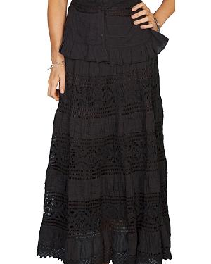 Scully Tiered Crocheted Skirt