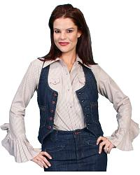 Scully Racerback Denim Vest at Sheplers
