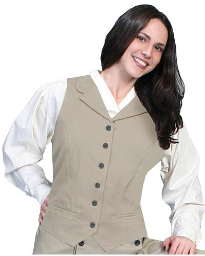 Rangewear by Scully Brushed Twill Vest $56.99 AT vintagedancer.com
