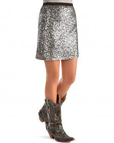 Cowgirl Justice Platinum Sequin Skirt