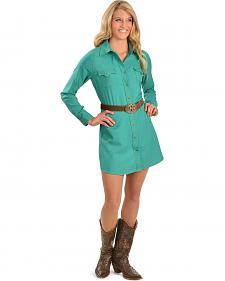 Cowgirl Justice Renegade Turquoise Western Dress