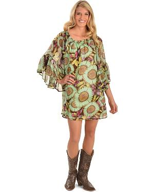 Cowgirl Justice Flora Bell Sleeve Dress