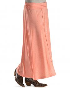 Red Ranch Coral Maxi Skirt