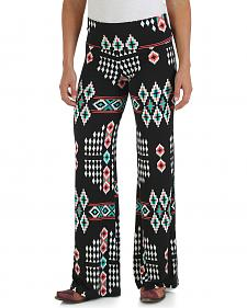 Wrangler Premium Patch Black and Turquoise Palazzo Pants