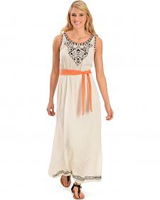Red Ranch Women's Aztec Yoke Maxi Dress