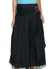 Scully Women's Linen & Lace Maxi Skirt