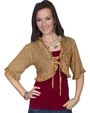 Scully Honey Creek Beige Bolero Jacket