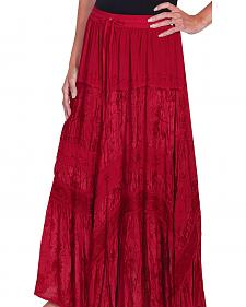 Scully Women's Embroidered Maxi Skirt