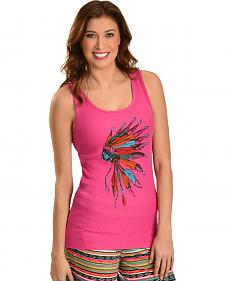 Cowgirl Justice Women's Pink Headdress Tank Top